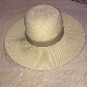 Beautiful asymmetric sun hat
